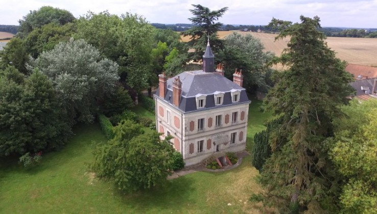 Imposing maison de maitre in a park of 3 acres with fruit trees - Brocante chateau du loir ...